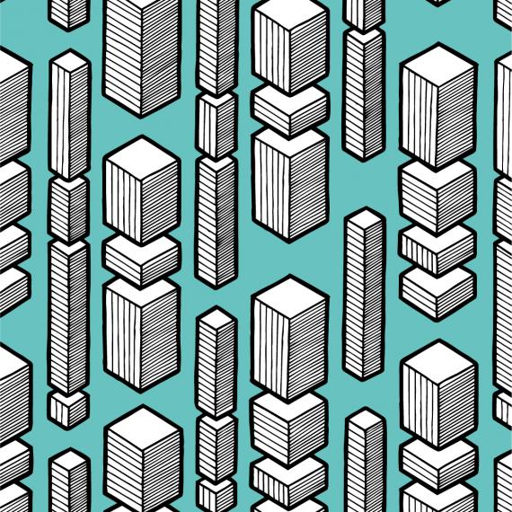 cubic rain pattern