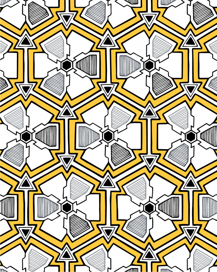 iron flowers pattern