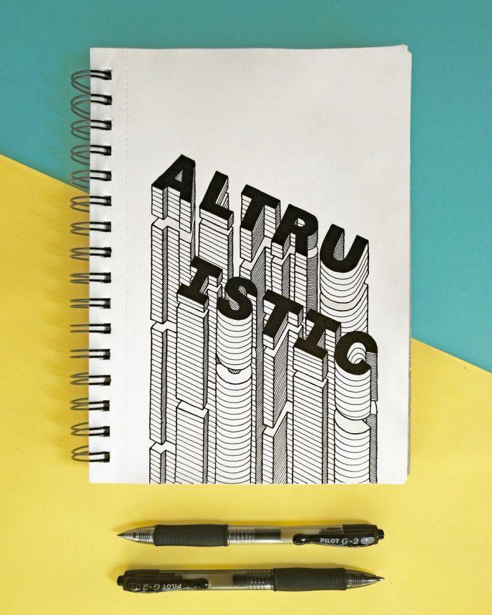 altruistic lettering pilot