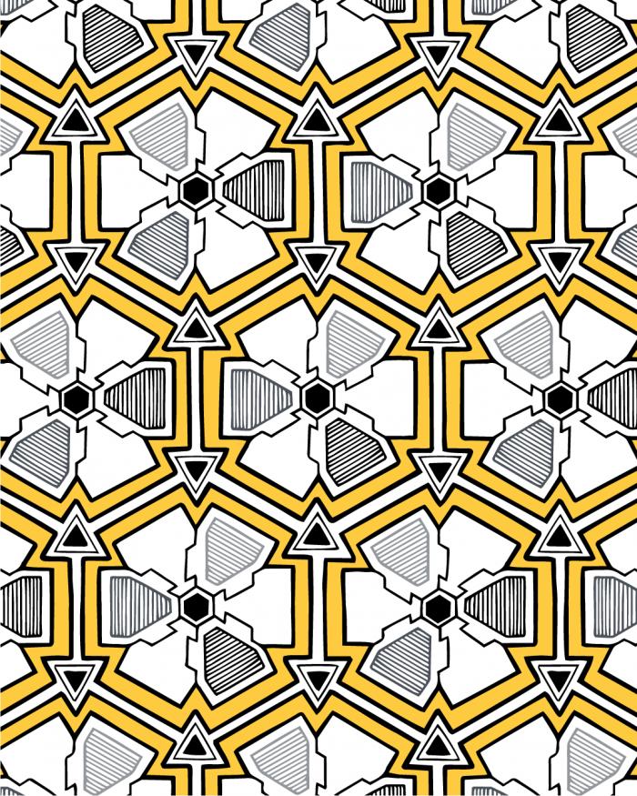 iron flowers pattern